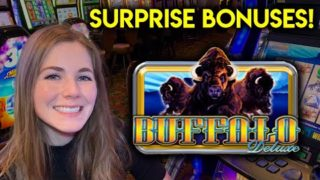 Buffalo Deluxe Slot Machine! I Had No Clue The Bonus Can Be Triggered This Way!