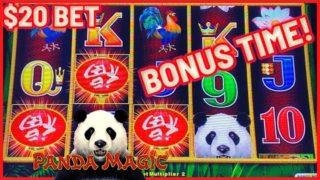 ?Dragon Link Panda Magic ?HIGH LIMIT $20 Bonus Round ?Slot Machine Casino ?