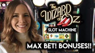 Wizard of Oz Original and Ruby Slippers Slot Machines! Fun and Bonuses!!!